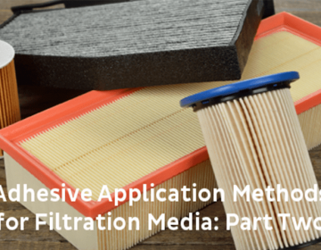 filtration adhesive application method