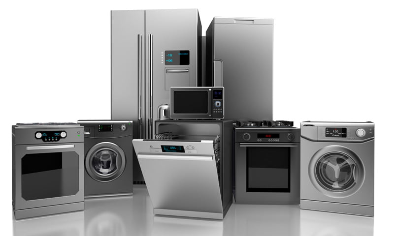 household appliances Home appliance: home appliance,, any of numerous and varied electric, electromechanical, or gas-powered devices introduced mainly in the 20th century to save labour and time in the household.