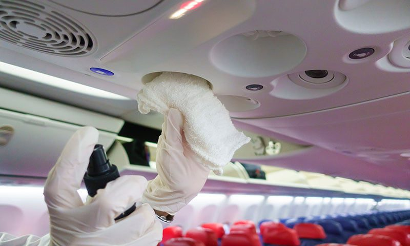 aircraft cleanliness